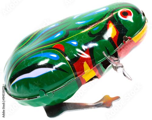 Aluminium Kikker grenouille mécanique sauteuse