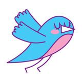 cute cartoon bird animal beauty vector illustration vector illustration pink and blue design