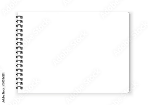 Spiral notebook paper on white background vector
