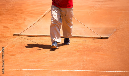 Aluminium Tennis Preparation of a tennis court for competitions