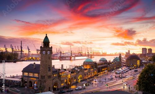 Poster Hamburg Skyline