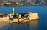 Top view of the old town of Budva, Montenegro