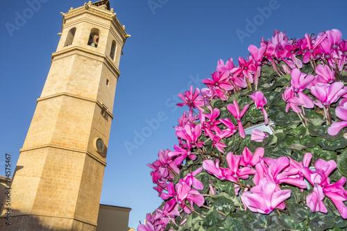 Tower El Fadri,bell tower,valencian gothic style.Castellon,Spain.