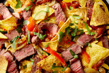 Speciality recipe for entrecote with nachos