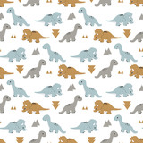 Pattern  Funny Dinosaurs Wall Sticker