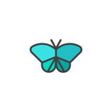 Butterfly filled outline icon, line vector sign, linear colorful pictogram isolated on white. Symbol, logo illustration. Pixel perfect vector graphics