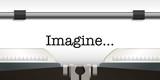 imagine - paix - mot - message - espoir - pacifisme - hymne - guerre - machine à écrire - symbole - 194588000