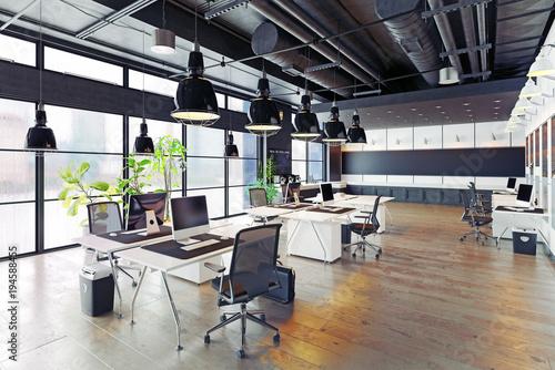 nowoczesne przytulne biuro na poddaszu