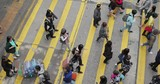 Top view people crossing the road - 194591081