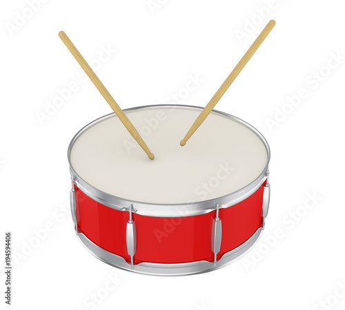 Fototapeta Bass Drum Isolated