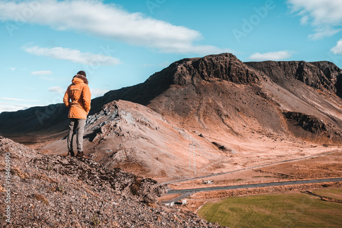In de dag Pool iceland mountains - hiking