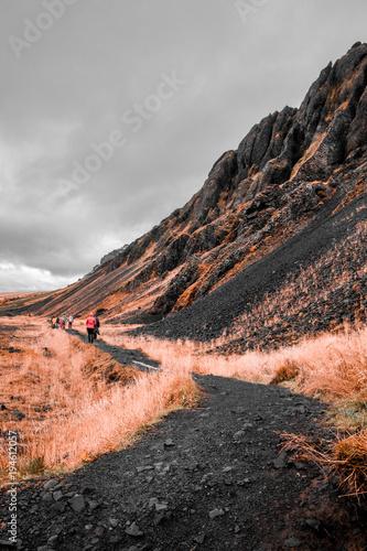 Aluminium Bleke violet Iceland landscapes mountains