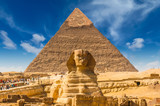 Egyptian sphinx. Cairo. Giza. Egypt. Travel background. Architectural monument. The tombs of the pharaohs. Vacation holidays background wallpaper - 194613298