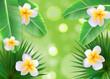 Hello Summer Natural Floral Background Vector Illustration - 194613468