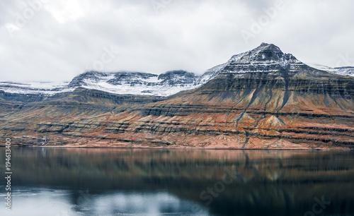 Staande foto Bergen Iceland mountains landscape