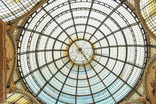 Fotobehang Milan Vittorio Emanuele II Gallery in Milan. Lombardy, Italy.