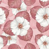 Delicate floral seamless pattern 6. Watercolor background with white flowers