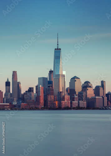 Foto op Canvas Chicago Night Skyline of New York City
