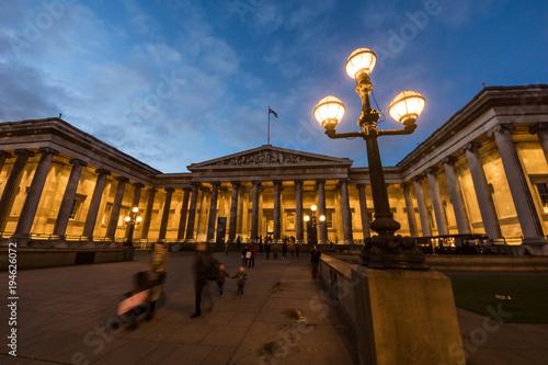 Deurstickers Londen British Museun in London, United Kingdom