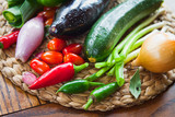 Mediterranean vegetable -  food ingredients, fresh from the market, localy harvested. - 194628842