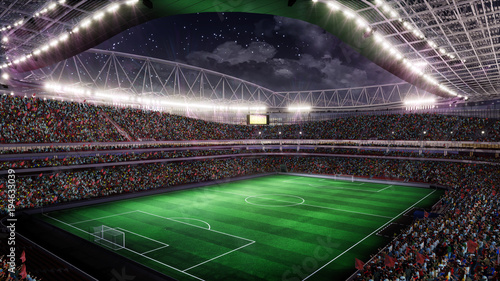 Soccer Stadium with Illumination