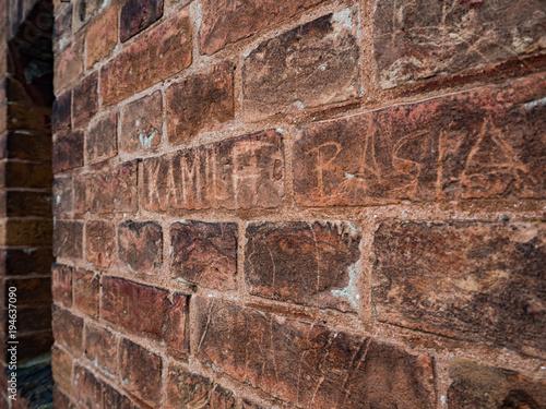 Tuinposter Baksteen muur wall 2
