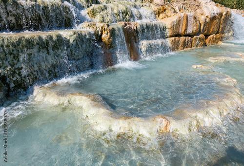 Natural spa Saturnia thermal baths, Italy - 194638070
