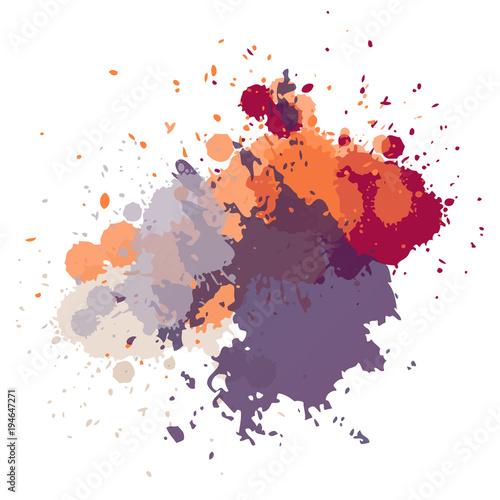 Abstract hand drawn acrylic paint background.