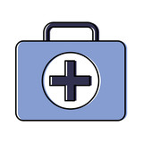 first aid kit healthcare icon image vector illustration design  - 194649048