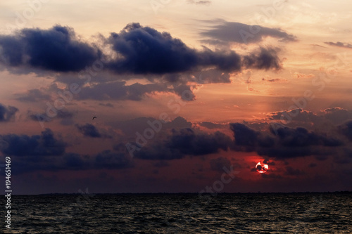 Aluminium Zee zonsondergang beautiful sunset at the sea