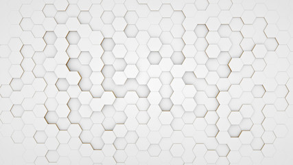 Clear pattern abstract background hexagon white