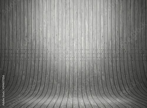3D curved wooden presentation background