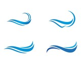 Water Wave symbol and icon Logo Template - 194659075