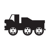 Isolated truck toy icon
