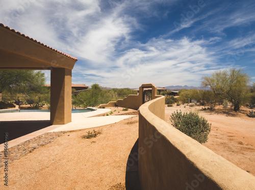 Canvas Arizona Back Yard of Upscale Desert Property