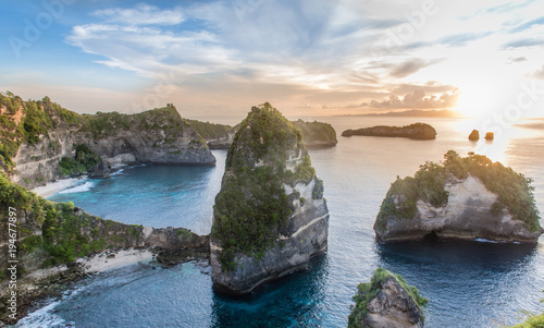 Tuinposter Bali Nusa Penida Island, one of famous tourist Island attraction in Bali, Indonesia