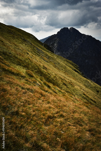 Fotobehang Herfst a dramatic landscape in the mountains
