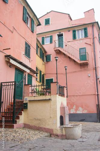 Foto op Canvas Liguria Scorcio del borgo di Boccadasse a Genova