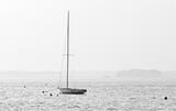 Lac de Lacanau en noir et blanc