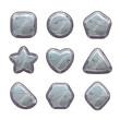 Cartoon grey stone assets