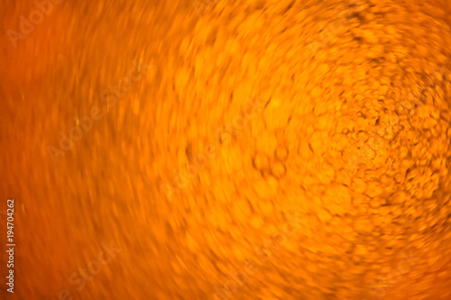 Foto op Canvas UFO Abstract bubbles (vegetable oil on water). Yellow background