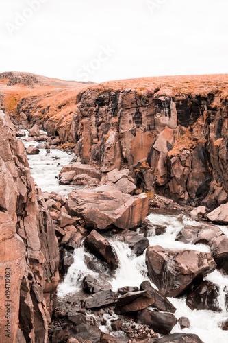 Fotobehang Cappuccino Iceland landscapes
