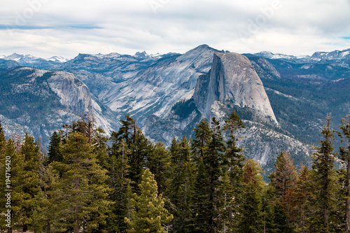 Half Dome is a granite dome at the eastern end of Yosemite Valley in Yosemite National Park, California.