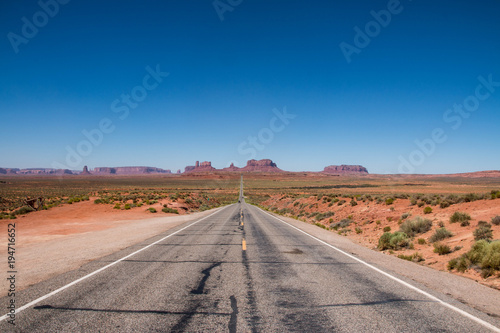Aluminium Route 66 Monument Valley on the border between Arizona and Utah in United States