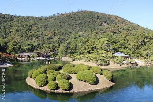 Fotobehang Pistache Ritsurin Garden