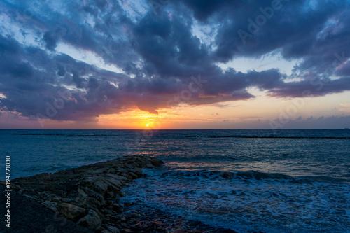 Aluminium Zee zonsondergang Sunrise at Cyprus