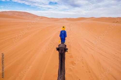 In de dag Marokko Morocco. Driving from Marrakesh to Merzouga