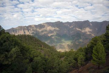 Mountain peak on La Palma