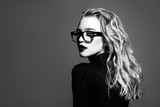 blonde in spectacles - 194726282