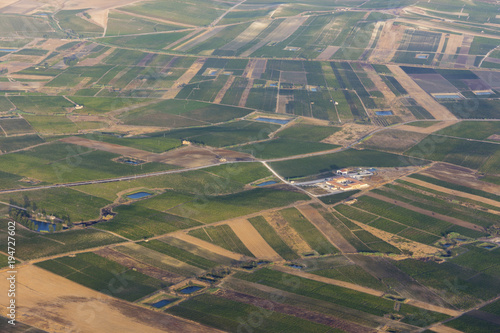 Foto op Canvas Khaki aerial view of landscapes of Sicily in Italy